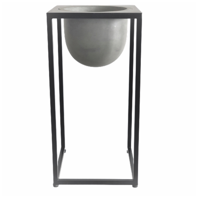 Coulum with pot/ iron Pedestal