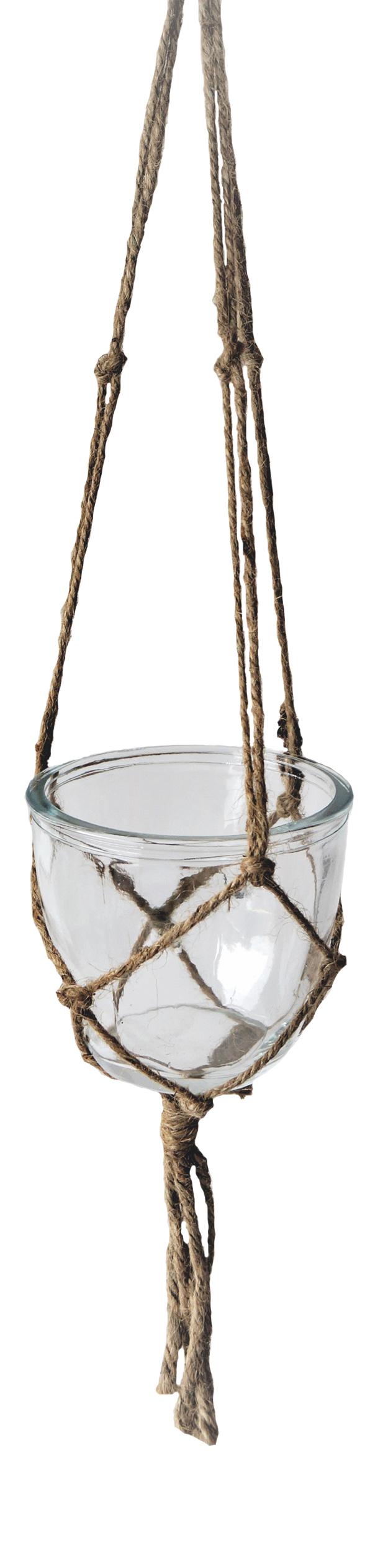 Hanging Glass w/Jute net M