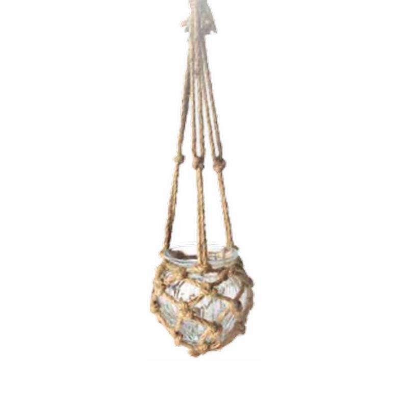 Hanging Glass w/Jute net L