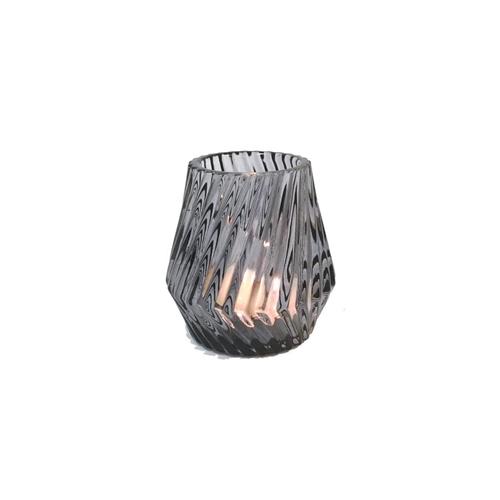 Glass Candleholder Grey
