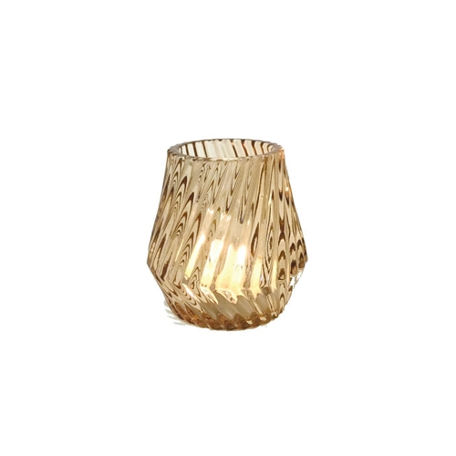Glass Candleholder Amber