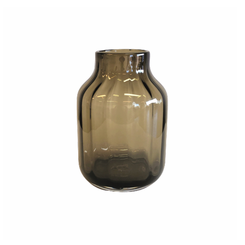 Glass Vase Tall Brown
