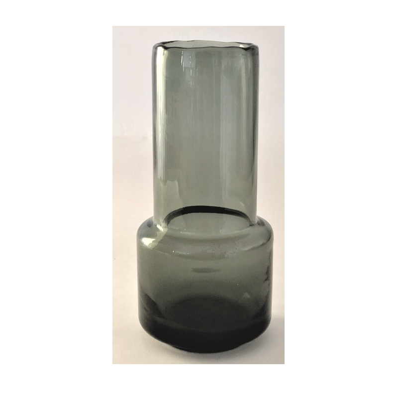 Glass Vase Retro Tall Grey
