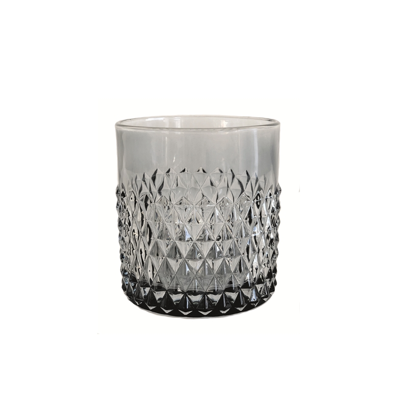 Candleholder w/Diamond Grey