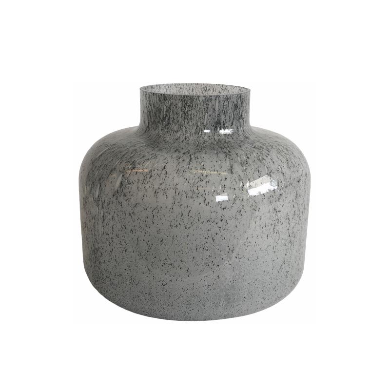 Glass Vase Stone Grey