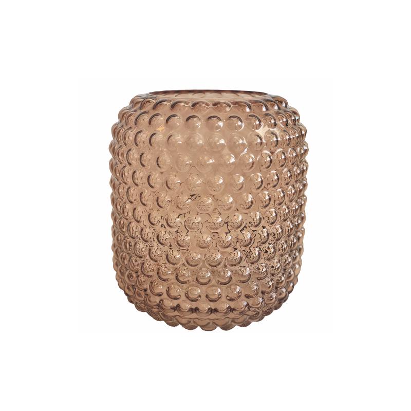 Glase Vase w/Bubble Creme