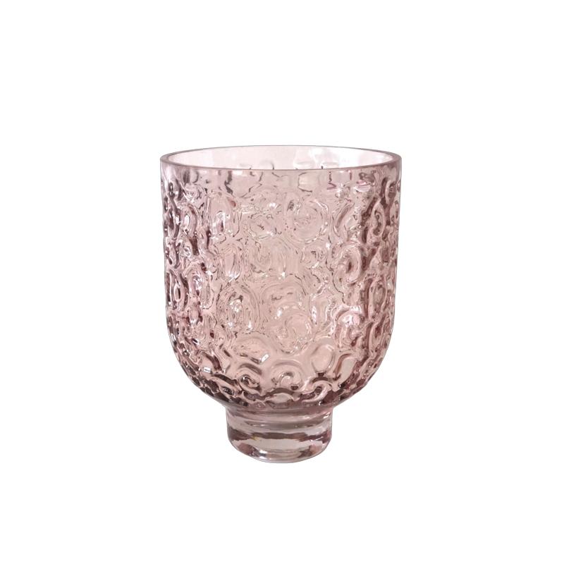 Glass Hurricane Dust Pink