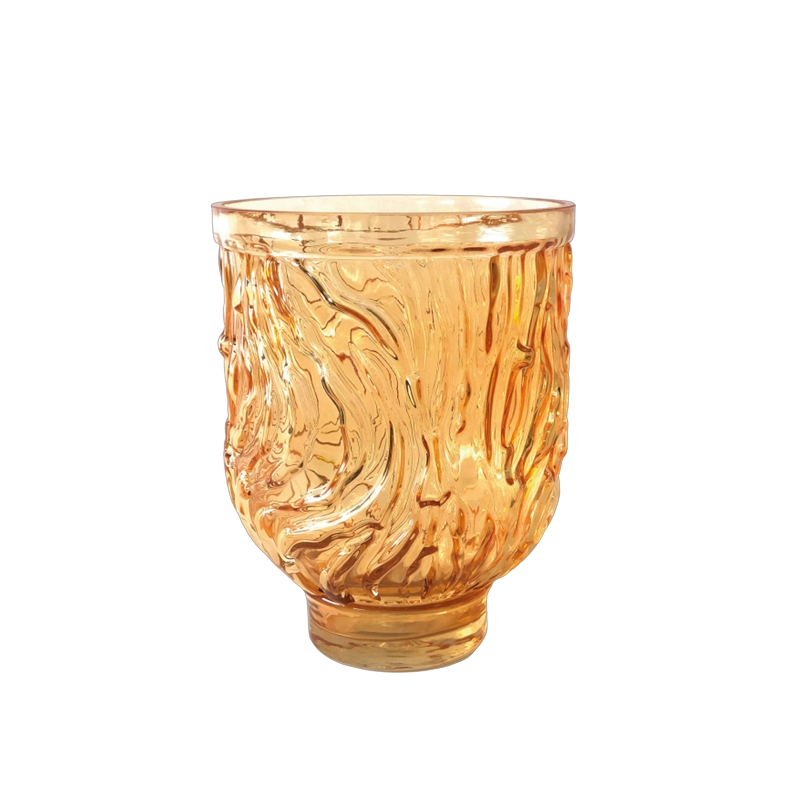 Glass Hurricane Golden Apricot