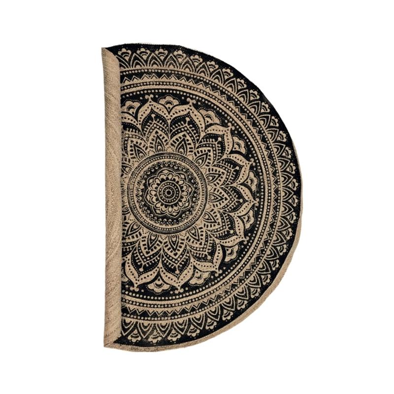 Carpet Round Black print Ø180