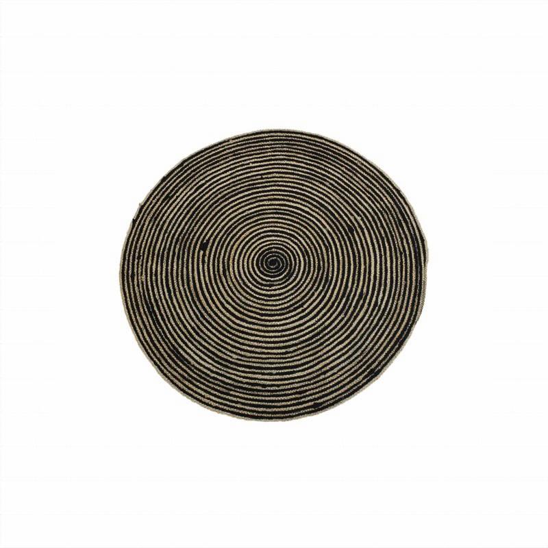 Carpet Round Nature/Black Ø100
