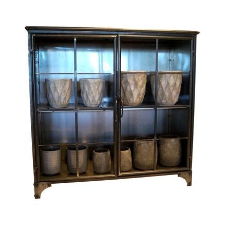 Metal Cabinet 2 Doors H.100