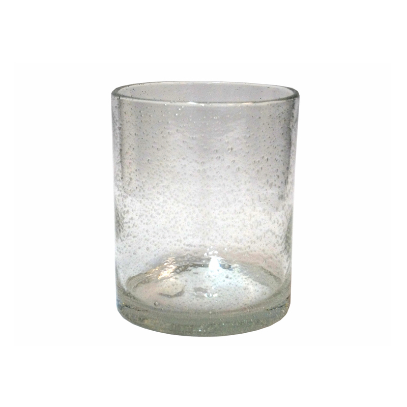 Glass w/Bubbles Clear L