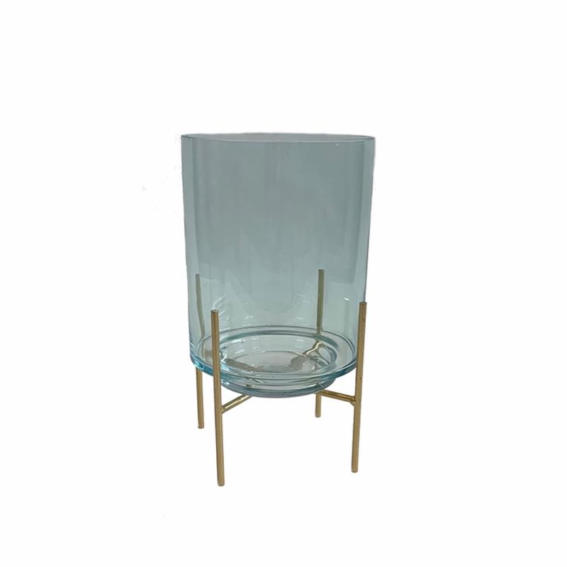 Glass Cylinder Light Blue