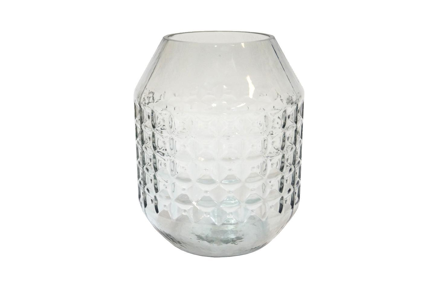 Glass Vase Diamond Grey