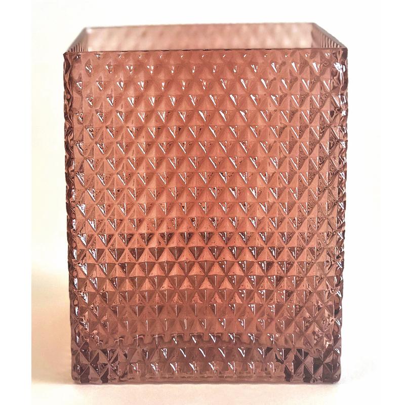 Glass T-light Dark Pink L