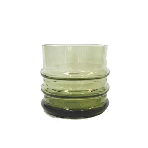 Glass Cylinder Vase Green S