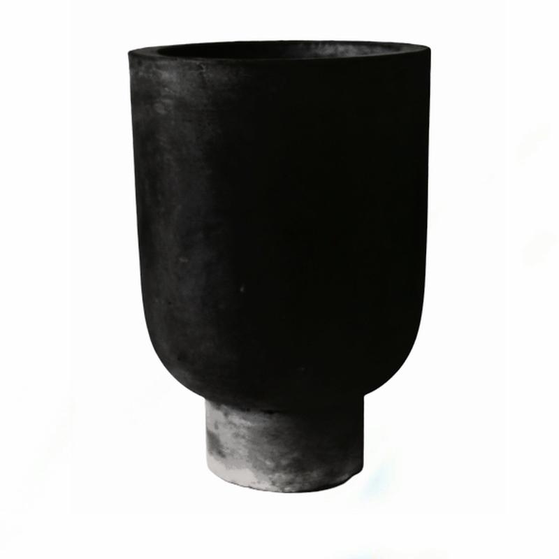 Rom Pot Tall Black