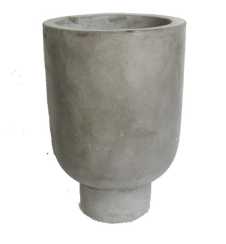 Rom Pot Tall Grey