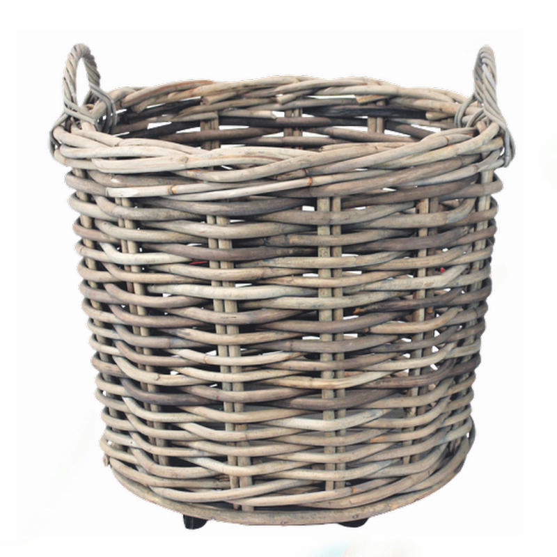 Basket Rattan w/ wheels s/2