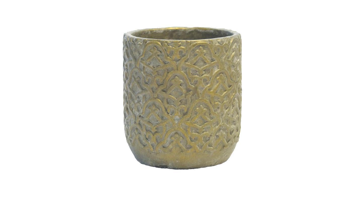 Rosa Pot Antique Gold