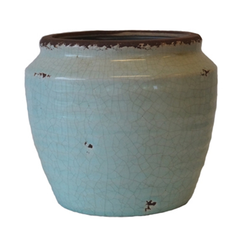 Emilie Pot, Blue Glass