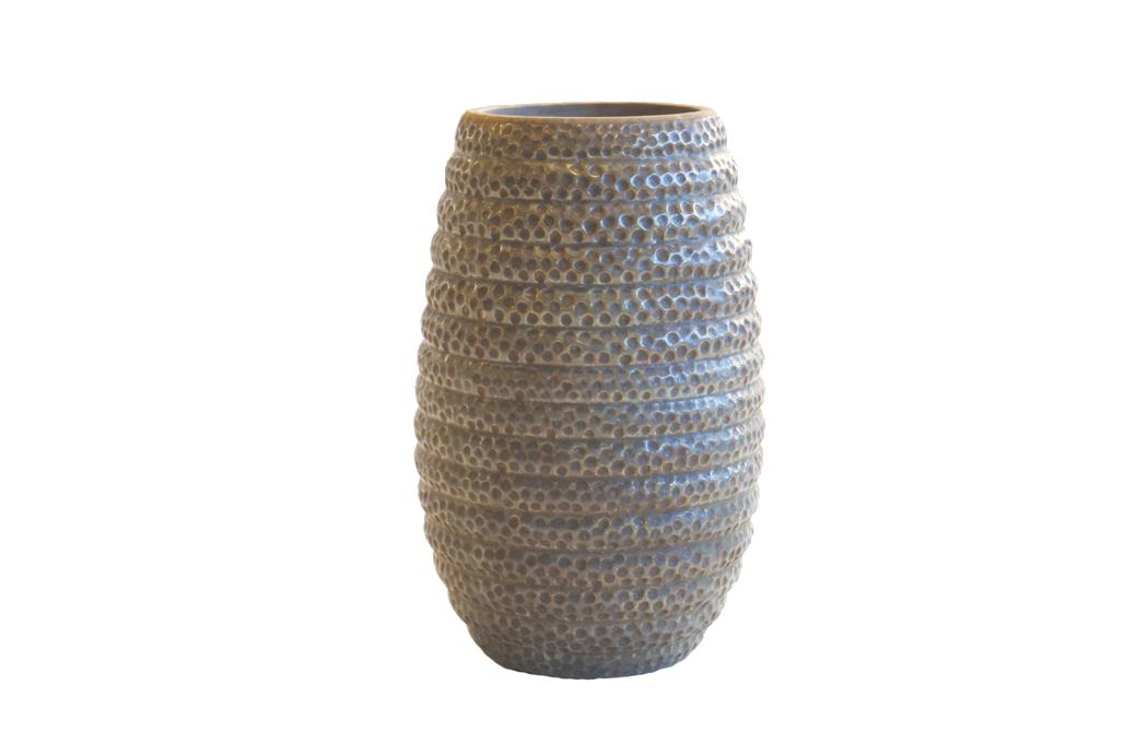 Trine Vase S Olive  Glazed