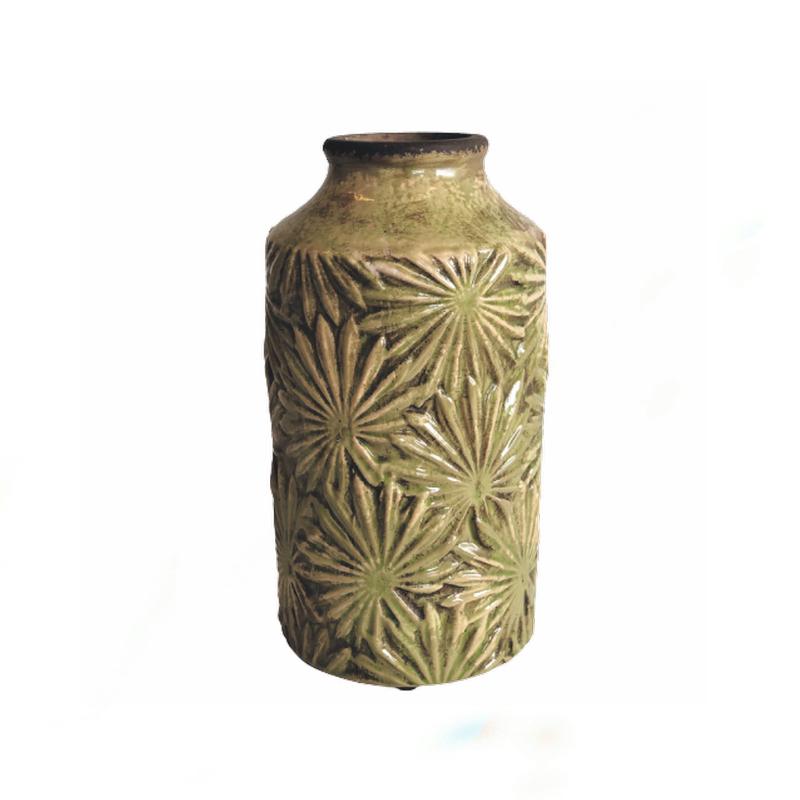 Smilla Vase Mustard Green