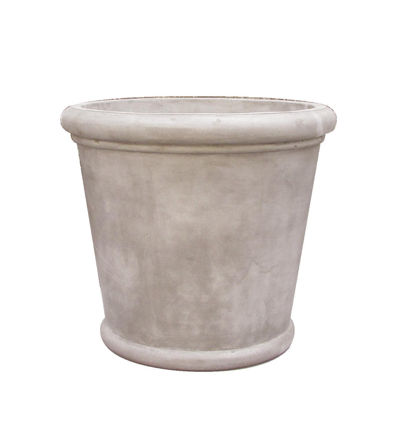 Round Planter s/2 Grey