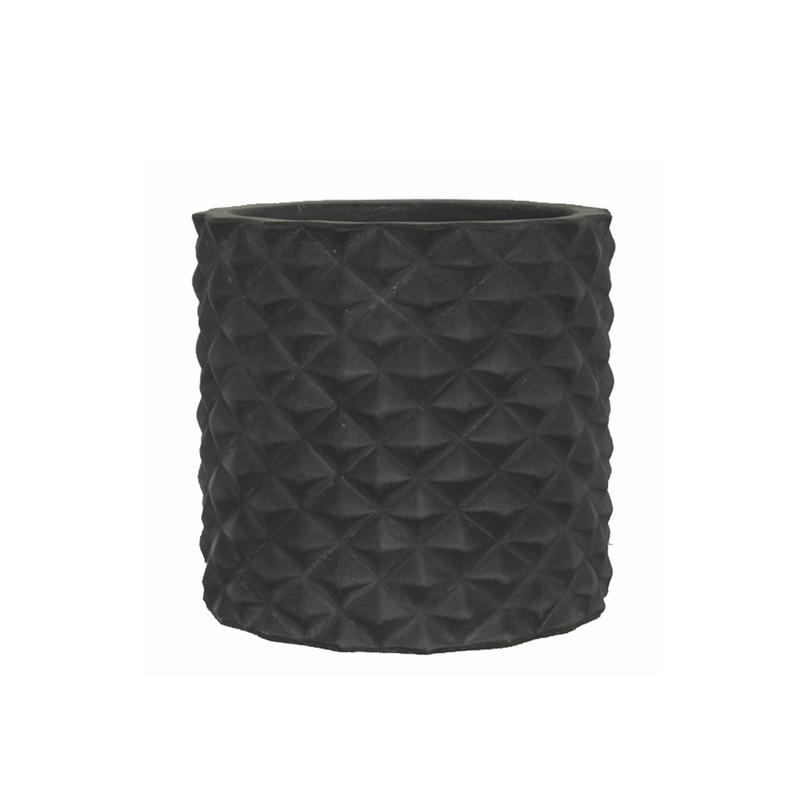 Monroe Cylinder Pot Black