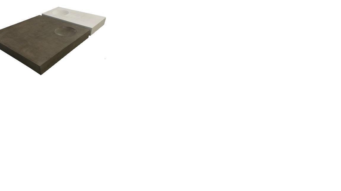 Twin Table Grey W50