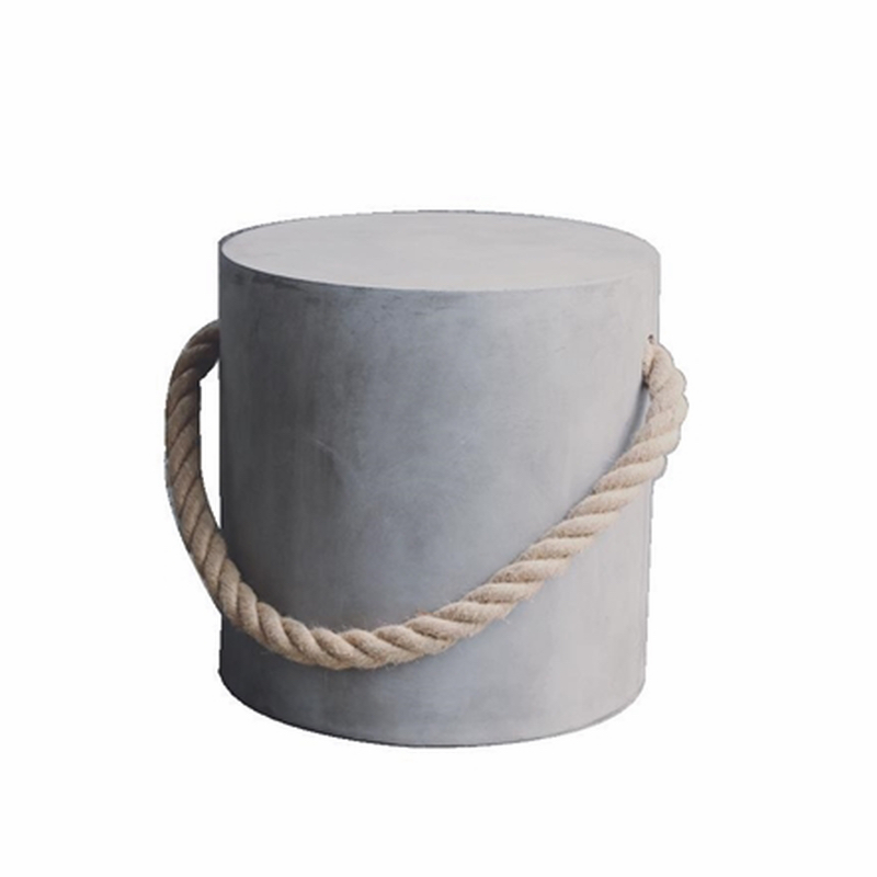 Maritim Stool with Rope Grey