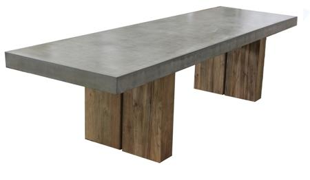 Urban Dining Table w/teak Grey