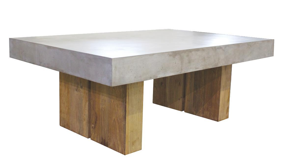 Urban Coffee Table w/teak Grey
