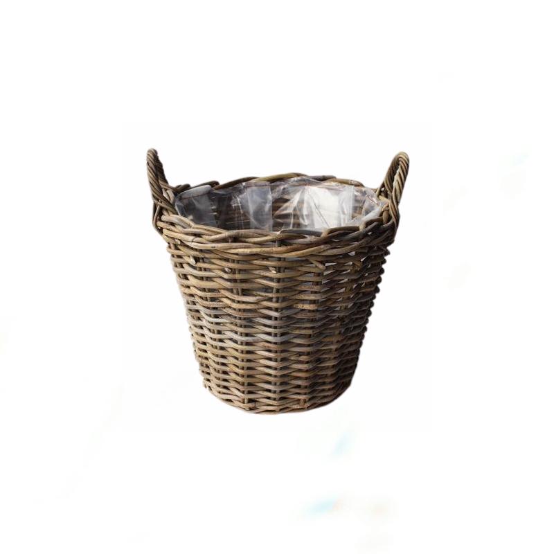 Basket w/handle Grey Ø45