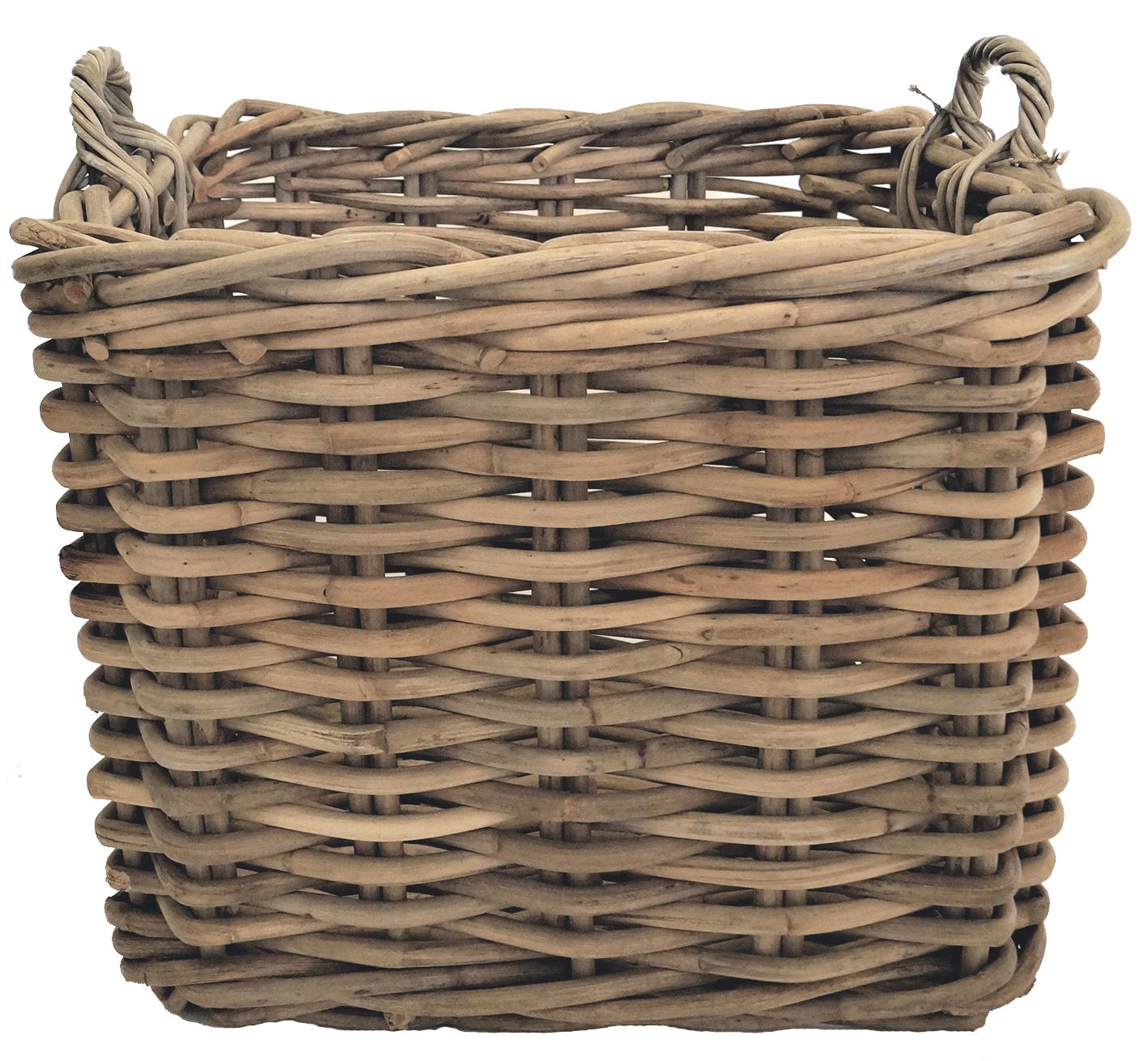Basket sq set of 3 Grey