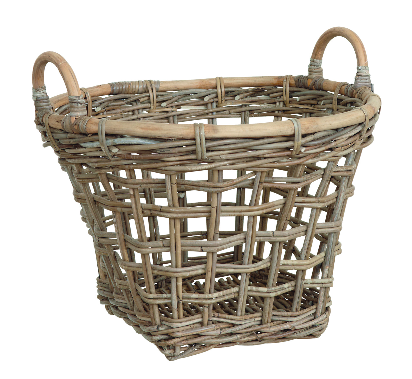 Basket Open w/handle set of 3