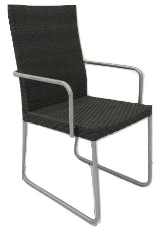 Dining Chair Steel Rattan w/a