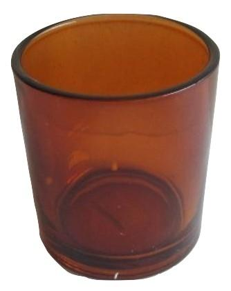 Glass T-lights Cognac H11