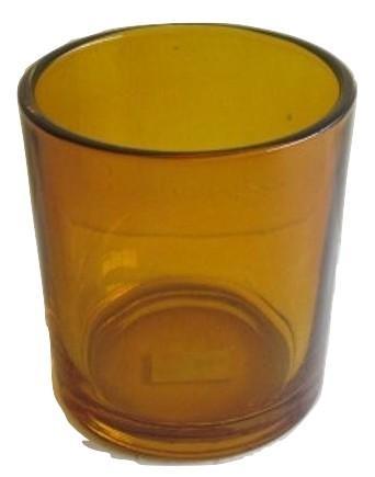 Glass T-lights Light Cognac S