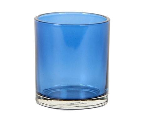 Glass T-lights Blue H11