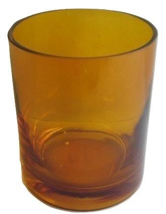 Glass T-lights Light Cognac L