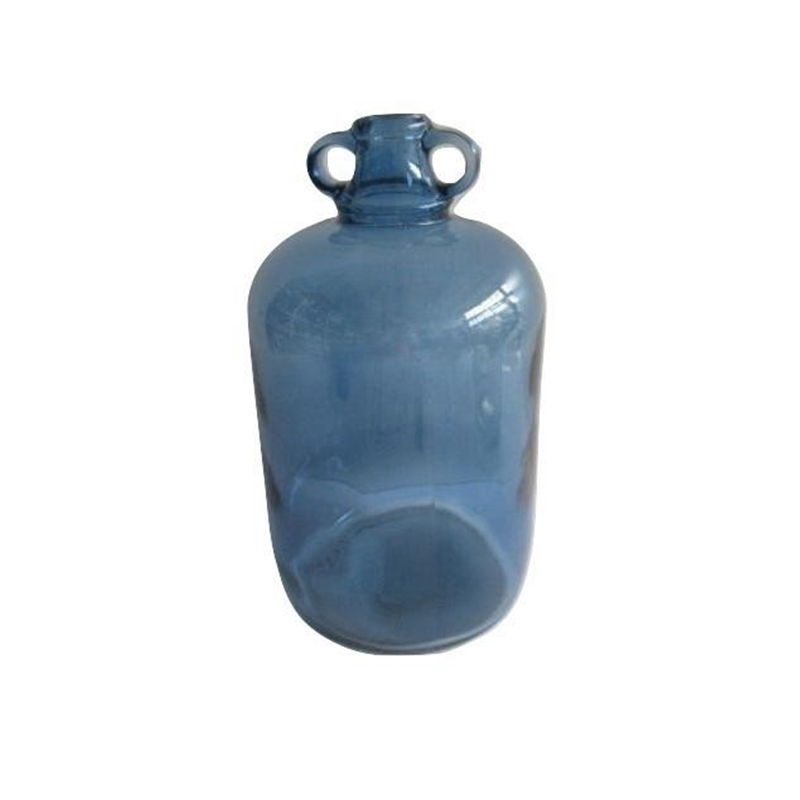 Deco Glass Bottle Blue M