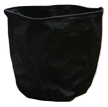 Textile pot w/plastic inside